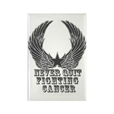 Never Quit Fighting Cancer Rectangle Magnet