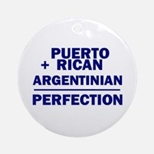 Argentinian + Puerto Rican Ornament (Round)
