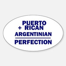 Argentinian + Puerto Rican Oval Decal