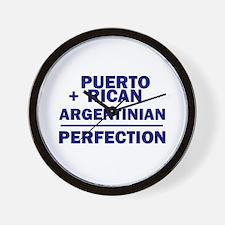 Argentinian + Puerto Rican Wall Clock