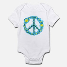 Smiley face flower peace sign baby Onesies