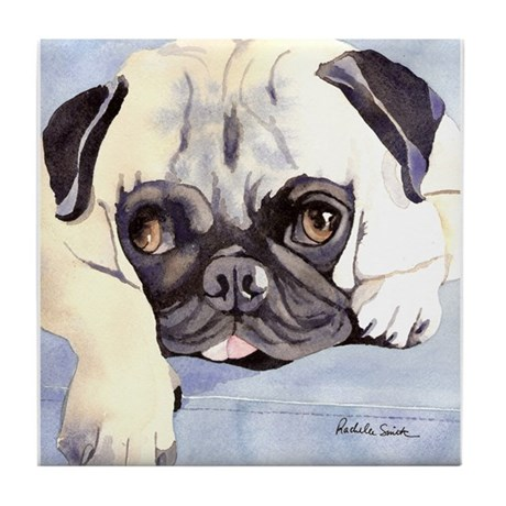Pug Stuff! Tile Coaster