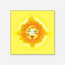 "Abstract Sun Square Sticker 3"" x 3"""