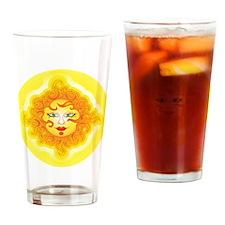 Abstract Sun Drinking Glass