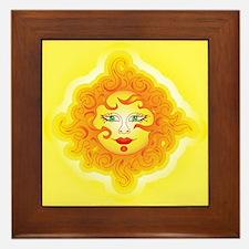 Abstract Sun Framed Tile