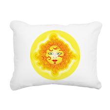 Abstract Sun Rectangular Canvas Pillow
