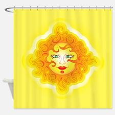 Abstract Sun Shower Curtain