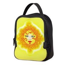 Abstract Sun Neoprene Lunch Bag