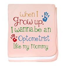 Optometrist Like Mommy baby blanket
