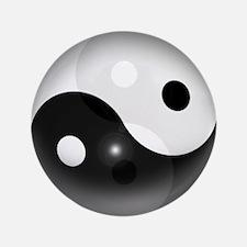"Yin Yang in 3D 3.5"" Button"