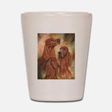 Three Irish Setters by Dawn Secord Shot Glass