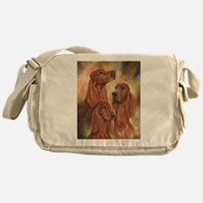 Three Irish Setters by Dawn Secord Messenger Bag