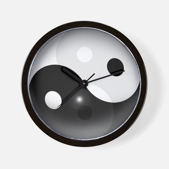 Yin Yang in 3D Wall Clock