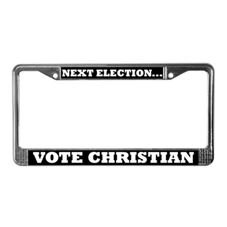 Vote Christian License Plate Frame
