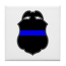 Blue Line Badge 3 Tile Coaster