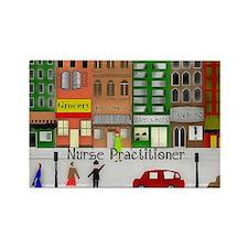 NP retro scene Gails watercolor art Magnets