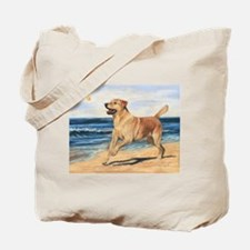 Lab on Beach Tote Bag