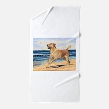 Lab on Beach Beach Towel