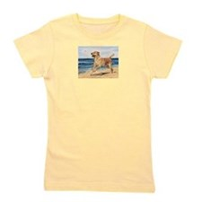 Lab on Beach Girl's Tee