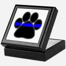 Blue Line K9 Paw Keepsake Box