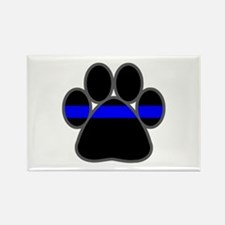Blue Line K9 Paw Rectangle Magnet