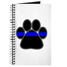 Blue Line K9 Paw Journal