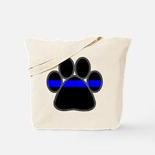 Blue Line K9 Paw Tote Bag