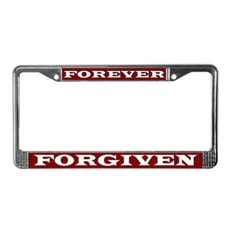 Forever Forgiven License Plate Frame