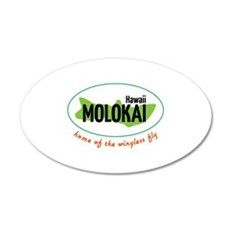 Hawaii Molokai home of the wingless fly Wall Decal