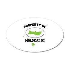 PROPERTY OF MOLOKAI,HI Wall Decal