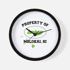 PROPERTY OF MOLOKAI,HI Wall Clock
