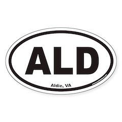 Aldie Virginia ALD Euro Oval Decal