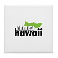MOLOKAI Hawaii Tile Coaster