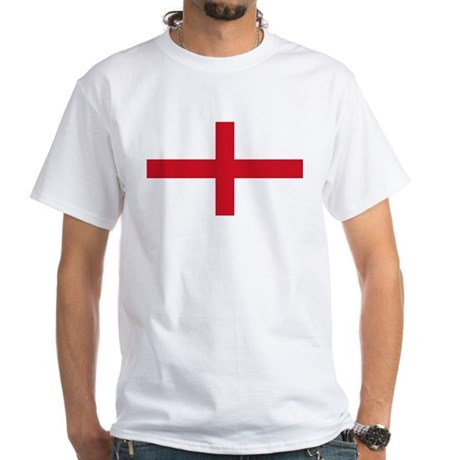 England Flag White T-Shirt