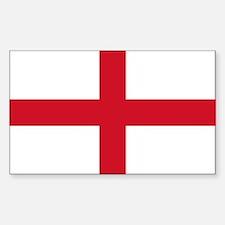 England Flag Sticker (Rectangle)
