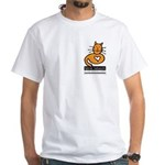 Feline Network Logo - White T-Shirt