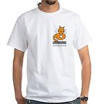Feline Network Logo - White T-Shirt