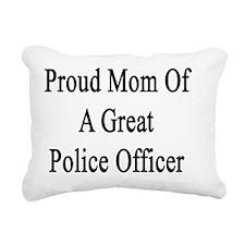 Proud Mom Of A Great Pol Rectangular Canvas Pillow