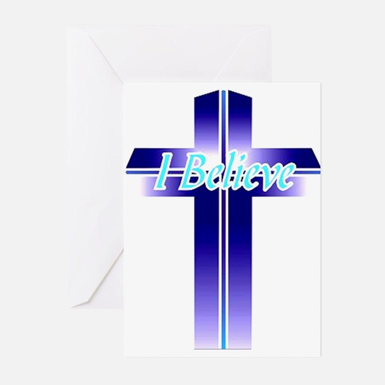 I Believe Cross Greeting Cards (Pk of 10)