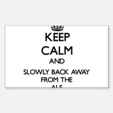 Keep calm and slowly back away from Als Decal