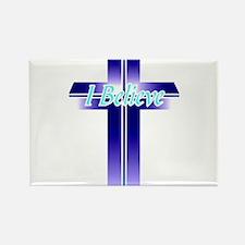I Believe Cross Rectangle Magnet (10 pack)