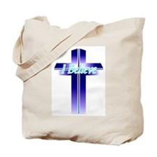 I Believe Cross Tote Bag