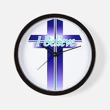 I Believe Cross Wall Clock