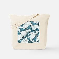 Blue Dragonflies Tote Bag