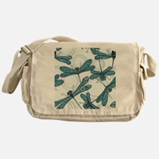 Blue Dragonflies Messenger Bag