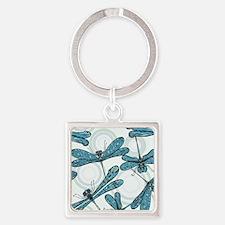 Blue Dragonflies Keychains
