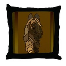 Funny Briard Throw Pillow