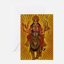 HINDU GODDESS DURGA Greeting Card