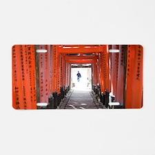 torii gate arcade Aluminum License Plate