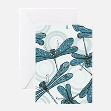 Blue Dragonflies Greeting Cards